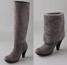 Chie Mihara Shoes Amanecer Shearling Boots KNEE HIGH GRAY PLATFORM $780 38