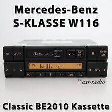Original Mercedes Classic BE2010 W116 Autoradio CLASSE S V116 Radio Cassette Cc