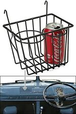 Black Retro Looking Wire Storage Basket Cup Holder Fits All Vw Bus Up To 1967