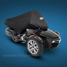 Black Half Cover for Can Am Spyder F3T with Trunk by UltraGard (4-478BK)