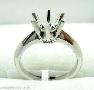 Solid Platinum 900 Engagement Ring Setting / Mounting Custom Build