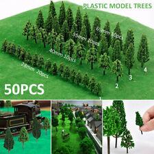 50x Miniature Model Trees Train Railroad Wargame Scenery Landscape  Scale Toys
