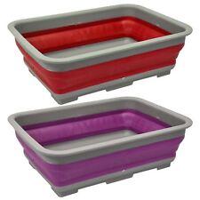Foldable Collapsible Washing Up Bowl Dish Kitchen Camping Caravan Boat Travel