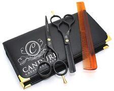 5.5'' Professional Hairdressing Barber Hair Cutting Thinning Razor Scissors set