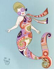 EL GATO GOMEZ RETRO PUCCI FASHION ILLUSTRATION POP ART MOD VOGUE MERMAID 1960'S