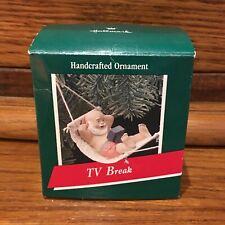 1989 TV Break Hallmark Keepsake Ornament Christmas T13