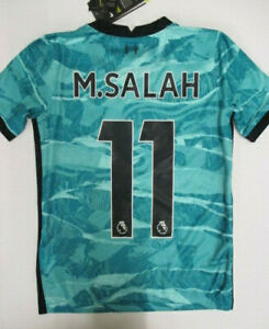 Nike Liverpool Mohamed Salah Away Shirt 2020 2021 Junior 7-8 Years (S) CN967*