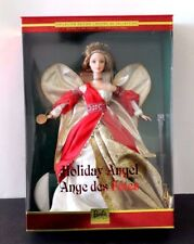 HOLIDAY ANGEL BARBIE  BEAUTIFUL RED AND GOLD DRESS  NEW  MIB   NRFB  2001 MATTEL