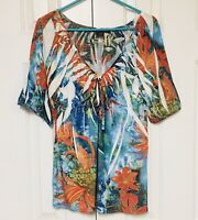 Simply Irresistible Tunic Top Sublimation Artsy Festival Stretch Floral Large