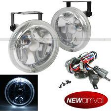 """For SC2 4"""" Round Super White w/ White Halo Bumper Driving Fog Light Lamp Kit"""