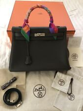 Hermes Kelly 35 Graphite Retourne (w/ Receipt) - **Pristine Condition**