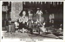 Hokkaido Japan Ainu People Customs Costumes Ethnography Postcard #4