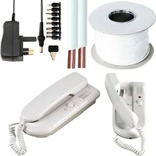2 Way Intercom Handset System Kit -300M Range Wired Phone Call- Home/Office