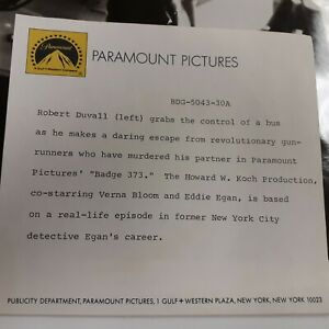 Robert Duvall in Badge 373 1973 movie photo paramount  pictures  press paperwork