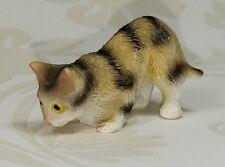 Miniature Dollhouse Cat Taby Pouncing Cat New