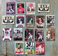 Barry Larkin 17 Card Lot - 16 Base + 1 Insert; Cincinnati Reds, Hall of Fame HOF
