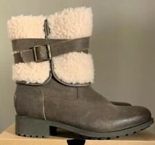 UGG BLAYRE BOOT III 1095153 DOVE, DISTRESSED LEATHER SIZE 6, WOMAN'S BOOTS, NEW*
