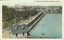 Birds Eye View from Reservoir Erie Pennsylvania 1924 Postcard