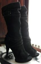 Stivali donna SCHUTZ in pelle scamosciata nera