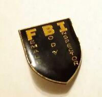 Vintage 80s FBI Female Body Inspector Retro POLICE LAPEL Rare HAT Funny Joke PIN