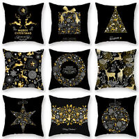 Merry Christmas Pillow Case Sofa Throw Cushion Cover Pillowcase Home Car Decor