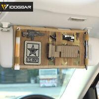 IDOGEAR Tactical MOLLE Vehicle Visor Panel Car Sun Visor Organizer Holder Gear