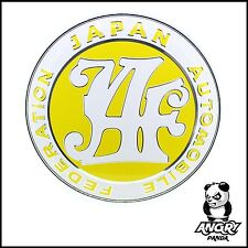 CUSTOM JAF JAPAN AUTOMOBILE FEDERATION GRILL BADGE EMBLEM YELLOW JDM RETRO