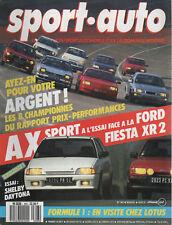 SPORT AUTO 303 1987 CITROEN AX SPORT FORD FIESTA XR2 DAYTONA SHELBY Z R PORTUGAL