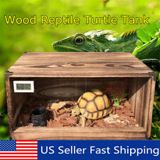 "Acrylic Wood Reptile Turtle Insect Spider Lizard Breeding Clear Box Tank 15""x10"""