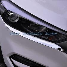 New Chrome Front Light Eyelid Trim For Hyundai Tucson 2016 2017