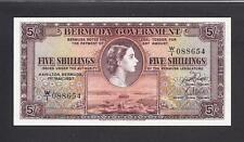 Bermuda p-18b , UNC , 5 Shillings , 1957 , QEII