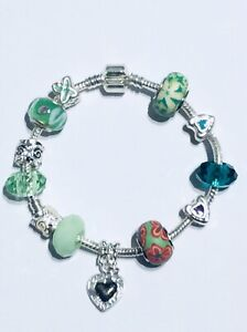 Silver Charm Snake Bracelet - New