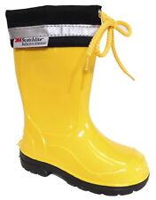 Scarpe stivali da pioggia gialle per bambini dai 2 ai 16 anni