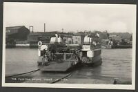 Postcard Cowes Isle of Wight car ferry The Floating Bridge early RP Bay Series