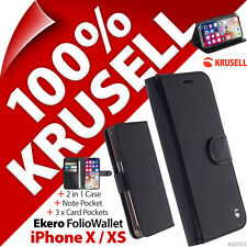 Krusell Ekero Folio Wallet 2-in-1 Stand Flip Case Cover for Apple iPhone X / XS