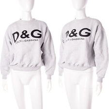 Vintage D&G Dolce and Gabanna Grey Marle 90s Sweatshirt Jumper
