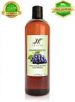 Grapeseed Oil 16 oz ORGANIC FOOD NATURAL CARRIER Cold Pressed 100% PURE VELONA