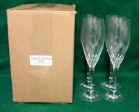 Schott Zwiesel REVUE Champagne Flutes SET OF FOUR Mint in BOX More Available