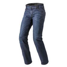 Pantaloni blu con protezione ginocchia per motociclista Taglia 32
