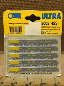 Ultra 5 x Non Ferrous Metal Laminate Very Fine Cut Jigsaw Blades 8008 France NOS