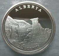 CANADA 1867-1992 ANNIVERSARY 25¢ ALBERTA SILVER PROOF QUARTER COIN