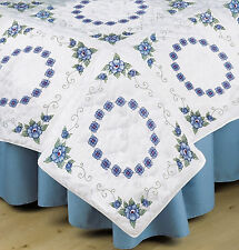 Embroidery Kit ~ Tobin / Design Works Blue Rose Quilt Blocks (6) #T288087