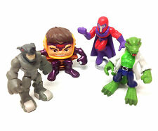 Marvel spiderman hero squad jouets villain figure set of rhino, magneto, lézard +