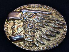 Vintage Eagle Hawk -  Indian Head Dress symbol  Belt Buckle