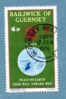 GUERNSEY stamp 1975 Christmas SG131 Globe and Seal of Bailiwick