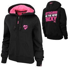 MusclePharm Ladies Full Zip SMALL Hoodie Gym Sweatshirt Training MP BLACK GREY