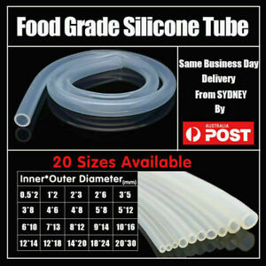 Food Grade Transparent Silicone Rubber Tube Hose Pipe Clear Beer Milk Soft AU