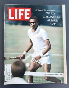 LIFE MAGAZINE ARTHUR ASHE 9/20/68