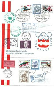 Austria 1975 Innsbruck Olympic Games flight card