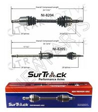 Pair of Front CV Axle Shafts Fits Nissan Murano 2003-2007 FWD SurTrack Set